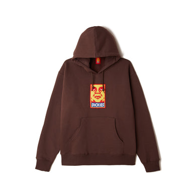 Dickies x Obey - Heavyweight Hoodie Chocolate Brown