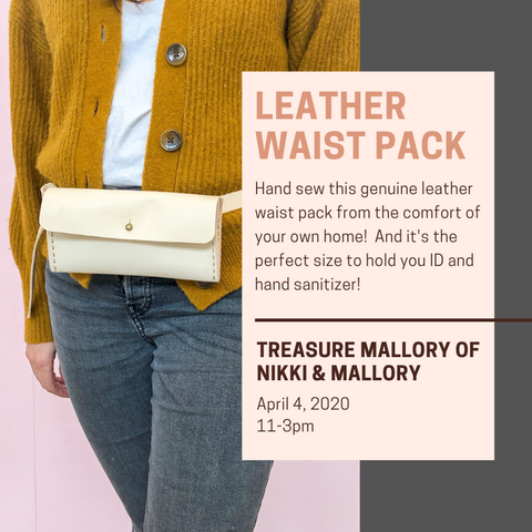 Virtual Workshop - Leather Waist Pack