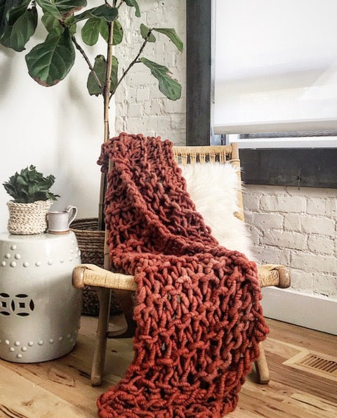 Arm Knit Throw Blanket with Anne Weil