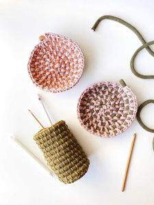 MAR 27th ONLINE - Crocheted Bowl Workshop with Anne Cops
