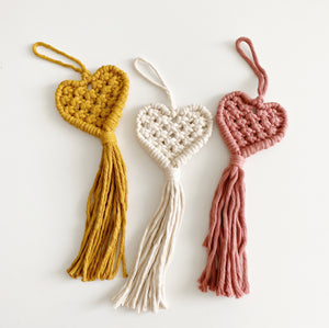 ONLINE - Macrame Hearts Workshop (ARTIST WORKSHOP)