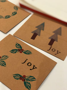 Block Printing Holiday Cards