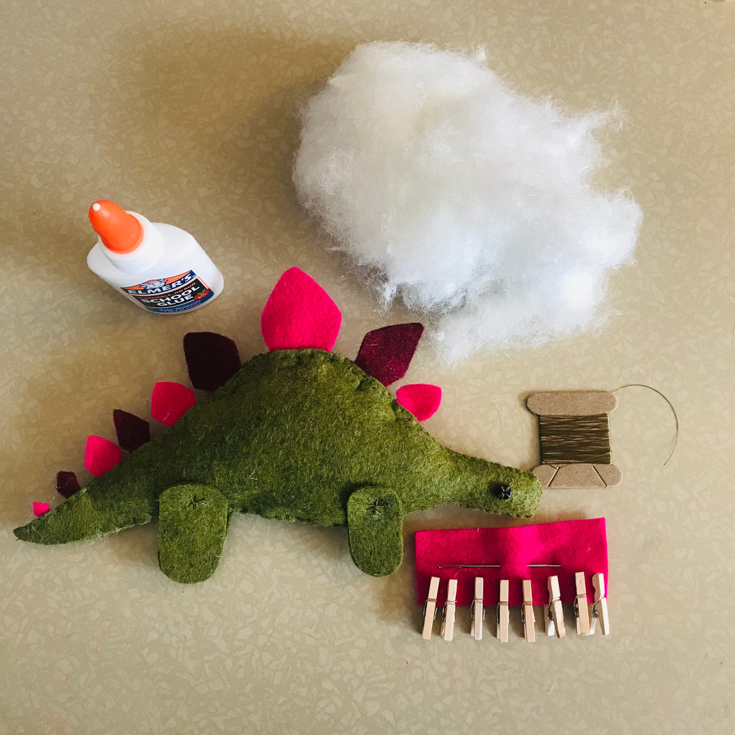 KID KIT - Stuffed Stegosaurus