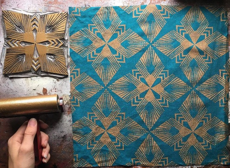 Block Printing for Fabric, Oct 26, 10:30-1:30