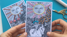Load image into Gallery viewer, Video Class with Kit - Photo Embroidery (Tarot Cards)