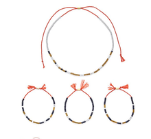 Load image into Gallery viewer, ONLINE - Morse Code (3 Bracelets & 1 Necklace)