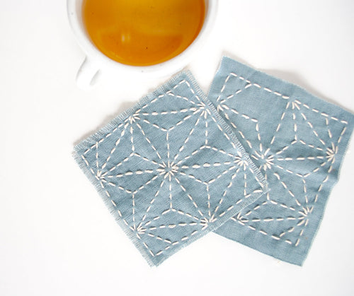 SASHIKO COASTER KIT - From WE GATHER