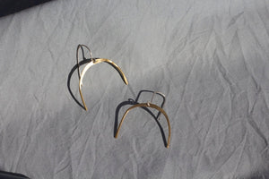 Silversmithing - Half Moon Earrings