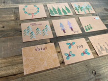 Load image into Gallery viewer, Block Printing Holiday Cards