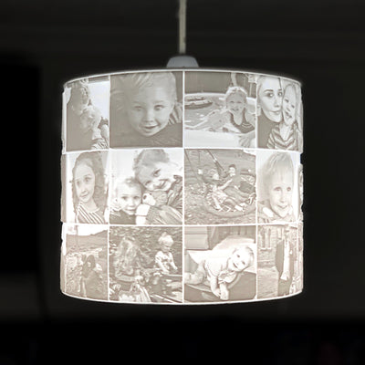 33 Photo Sculpted Memory Shade for Lamps or Ceiling Light Fitting