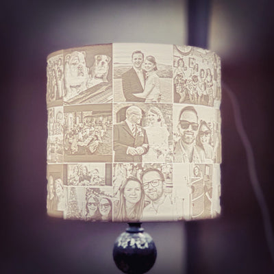 30 Photo Memory Shade for existing Lamp or Ceiling light fitting pearl wedding, 30th birthday