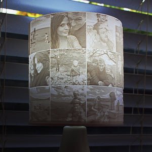 27 Photo Memory Shade for existing Lamp or Ceiling light fitting