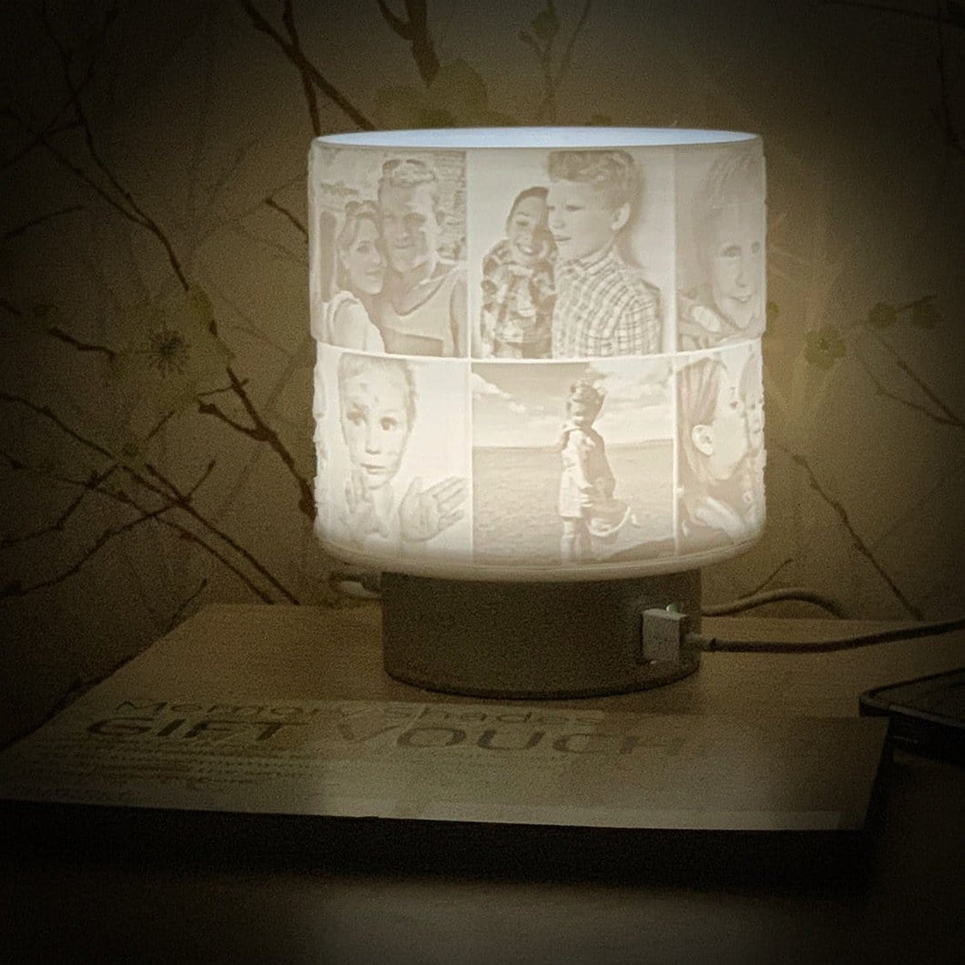 Gift Voucher - 14 Photo Free Rotating LED Touch Lamp with 2 x USB