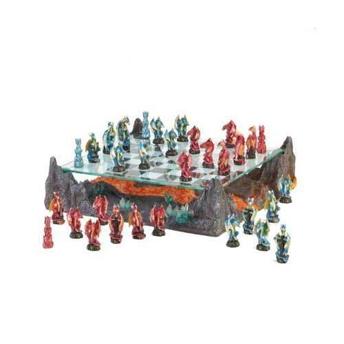 Fire River Dragon Chess Set (pack of 1 SET)