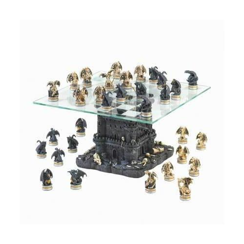 Black Tower Dragon Chess Set (pack of 1 SET)