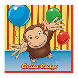 Curious George Beverage Napkins [16 Per Pack]