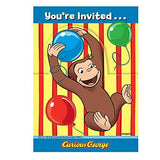 Curious George Invitations [8 Per Pack]