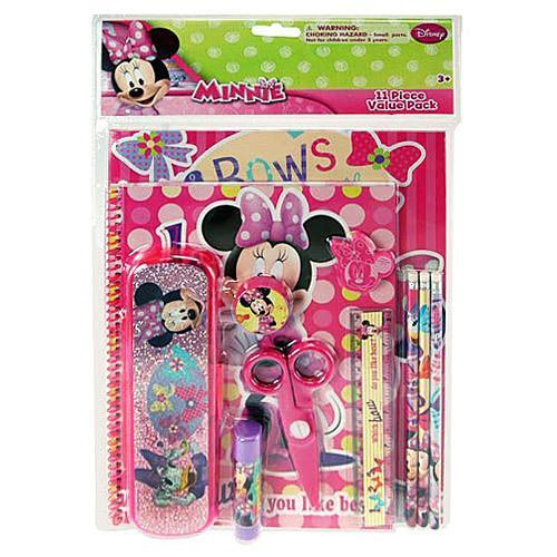 Minnie Mouse 11 Piece Stationary Value Pack