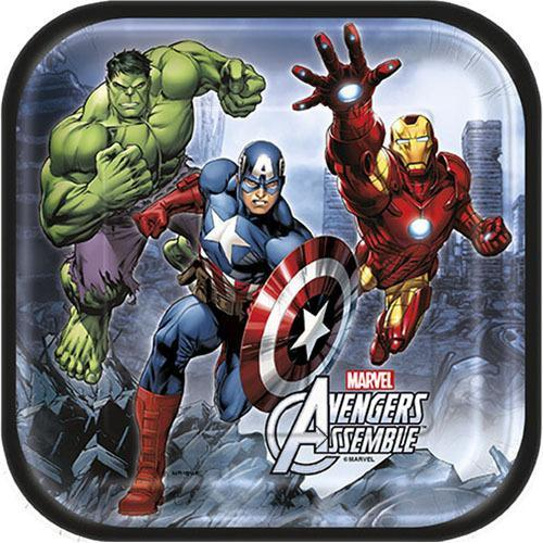 Marvel's Avengers 7 Inch Square Plates [8 Per Package]