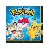 Pokemon Pikachu and Friends Luncheon Napkins [16 Per Pack]