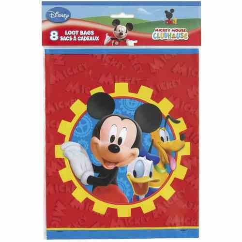 Mickey Mouse Clubhouse Plastic Loot Bags [8 per Package]