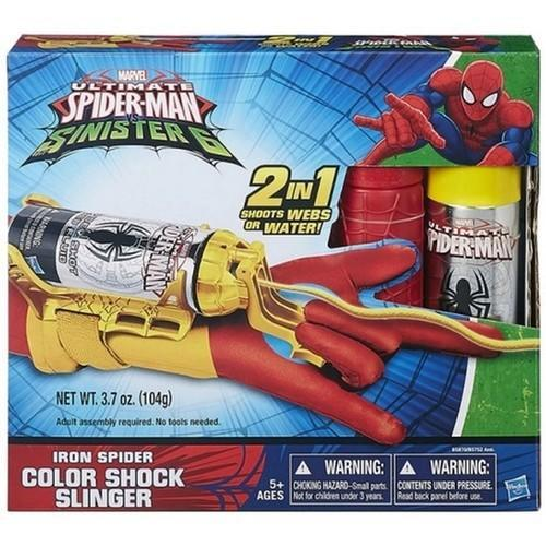 Ultimate Spider-Man Sinister 6 Iron Spider Color Shock Slinger