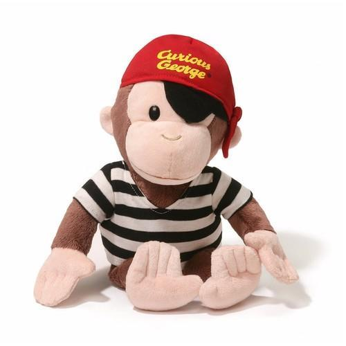 Gund Curious George Pirate Plush