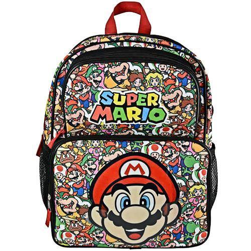 Super Mario All-Over-Print School Backpack for Kids - 16 Inches