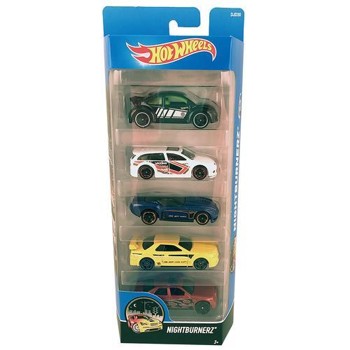 Hot Wheels Nightburnerz - 5 Pack - Die-Cast Cars - DJD30