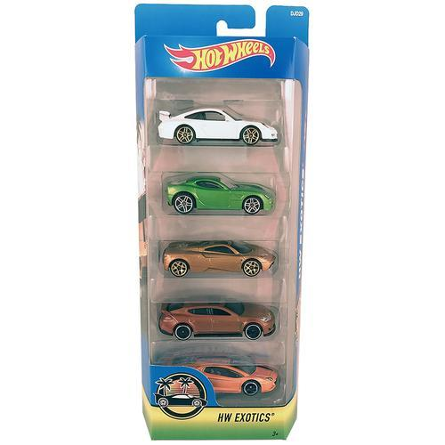 Hot Wheels HW Exotics - 5 Pack - Die-Cast Cars - DJD29