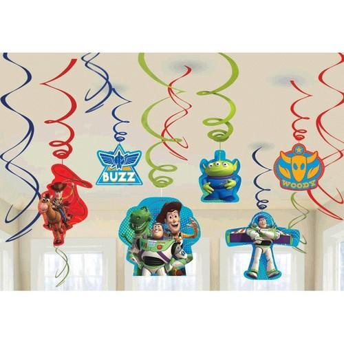 Toy Story Power Up Hanging Swirl Party Decorations [3 per Pack]