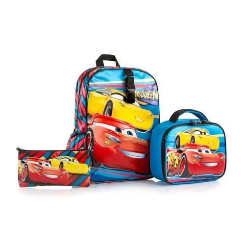Heys Disney Cars Deluxe Backpack with Lunch Bag and Pencil Case
