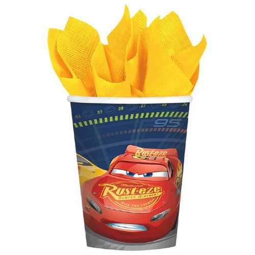 Cars 3 9 oz Party Cups [8 per Package]