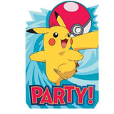 Pokemon Postcard Invitations [8 Per Pack]
