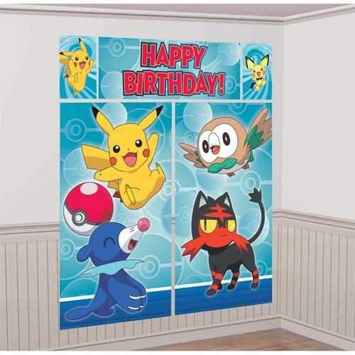 Pokemon Scene Setters Wall Decorating Kit