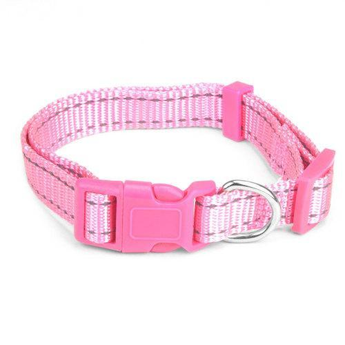 Small Pink Adjustable Reflective Collar