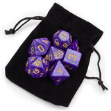 Set of 7 Polyhedral Dice, Lucid Dreams