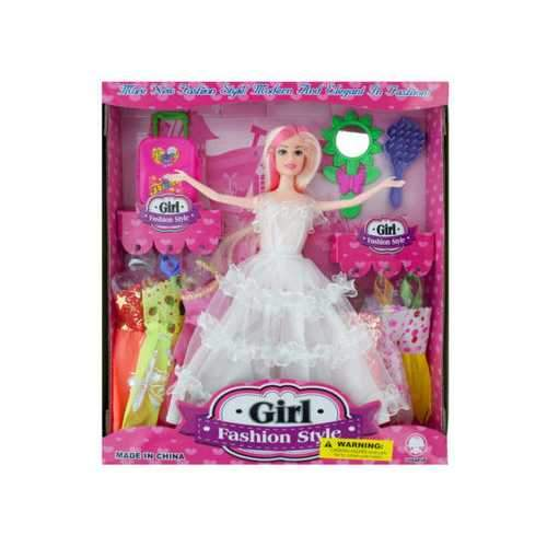 Bride Fashion Doll with Dresses & Accessories ( Case of 4 )