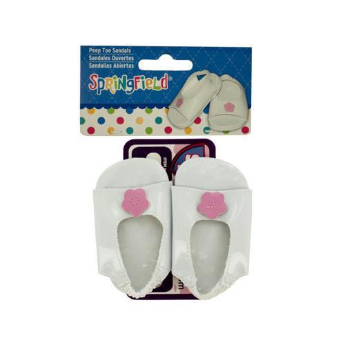 Peep Toe Sandals Doll Accessory ( Case of 72 )