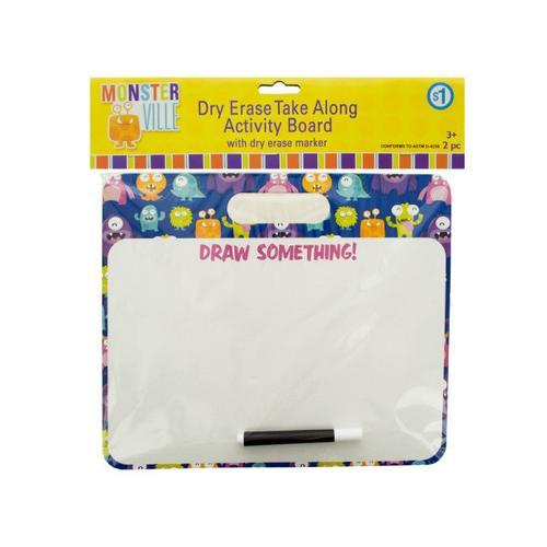 Monsterville Dry Erase Take Along Activity Board ( Case of 25 )