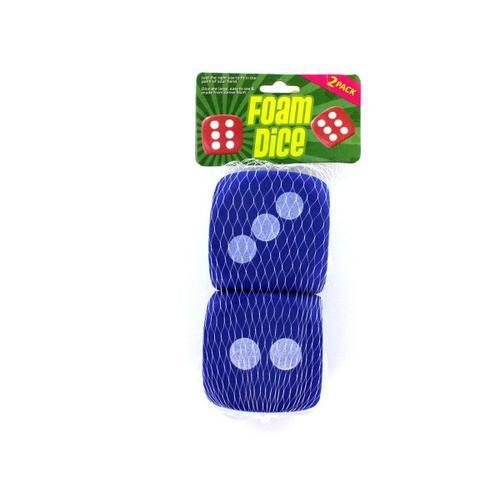 Large foam dice pack of 2 ( Case of 12 )