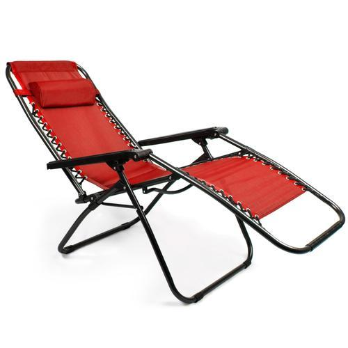 Zero Gravity Folding Lounge Chair, Red