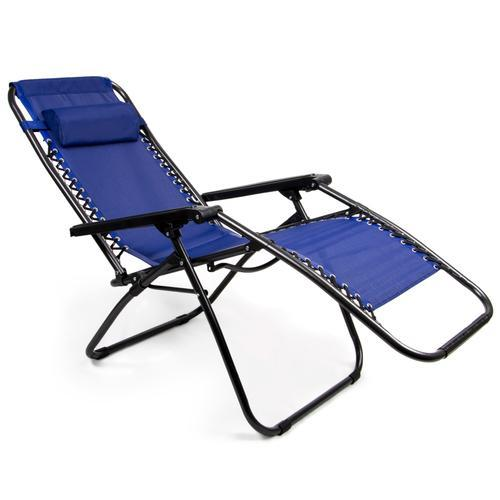 Zero Gravity Folding Lounge Chair, Blue