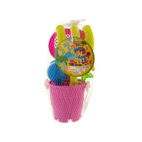 Sand Toy Set in Bucket ( Case of 48 )