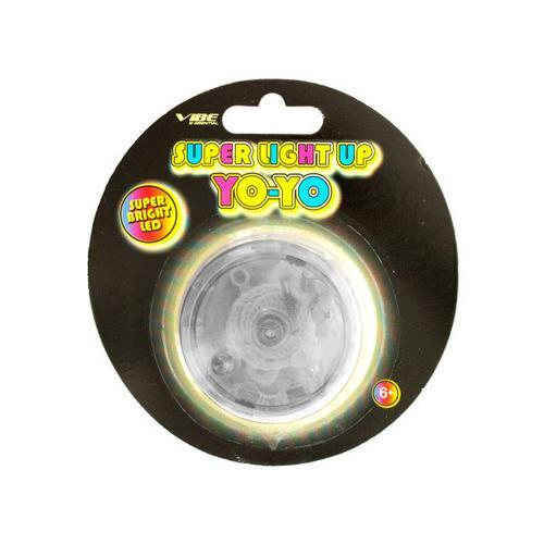 Clear Super Light Up LED Yo-Yo ( Case of 72 )