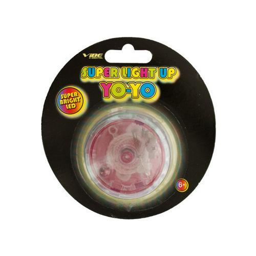 Red Super Light Up LED Yo-Yo ( Case of 24 )