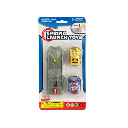 Press & Go Spring Launch Toy Cars Set ( Case of 48 )