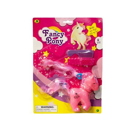 Fancy Pony with Brush & Comb Play Set ( Case of 48 )