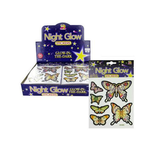 Choice of glow in the dark butterfly stickers ( Case of 24 )