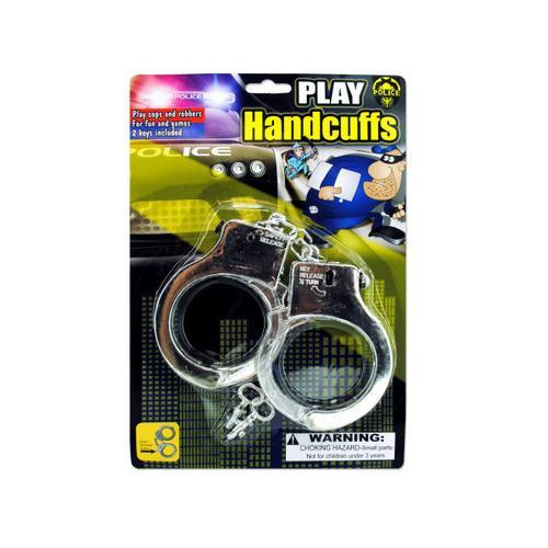 Police Play Plastic Handcuffs ( Case of 24 )